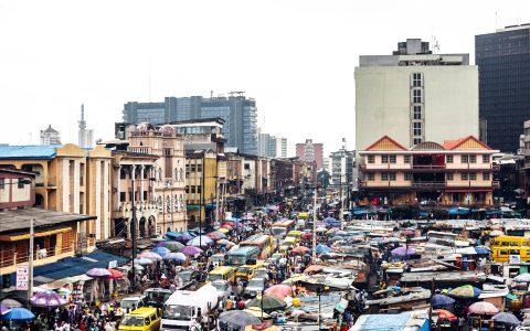 African city - Lagos, Nigeria.
