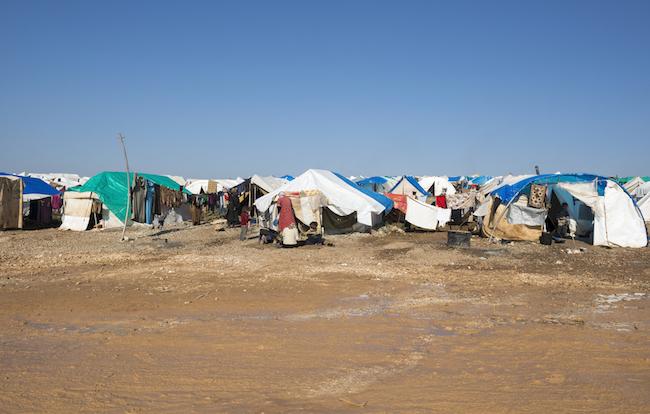 Syrian refugees inside Syria